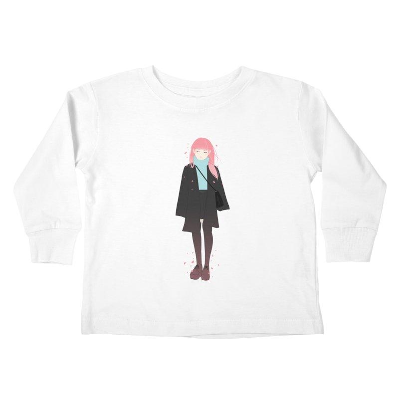 Flowers Bloom Again Kids Toddler Longsleeve T-Shirt by Fran Shop