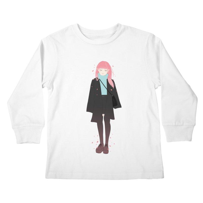 Flowers Bloom Again Kids Longsleeve T-Shirt by Fran Shop