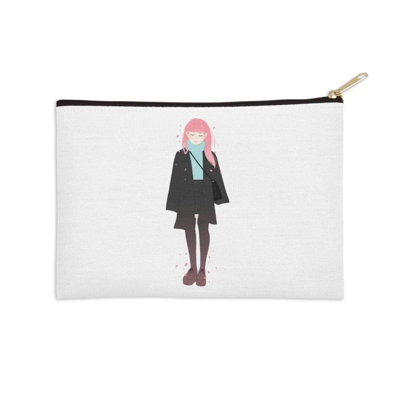 Flowers Bloom Again Accessories Zip Pouch by Fran Shop