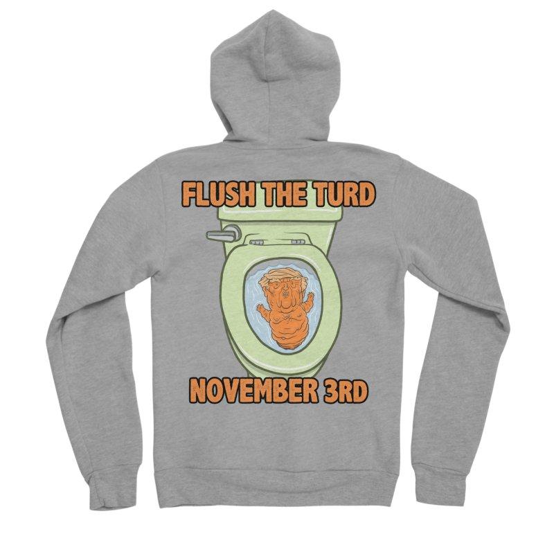 Flush the Turd November Third! Men's Sponge Fleece Zip-Up Hoody by Frankenstein's Artist Shop
