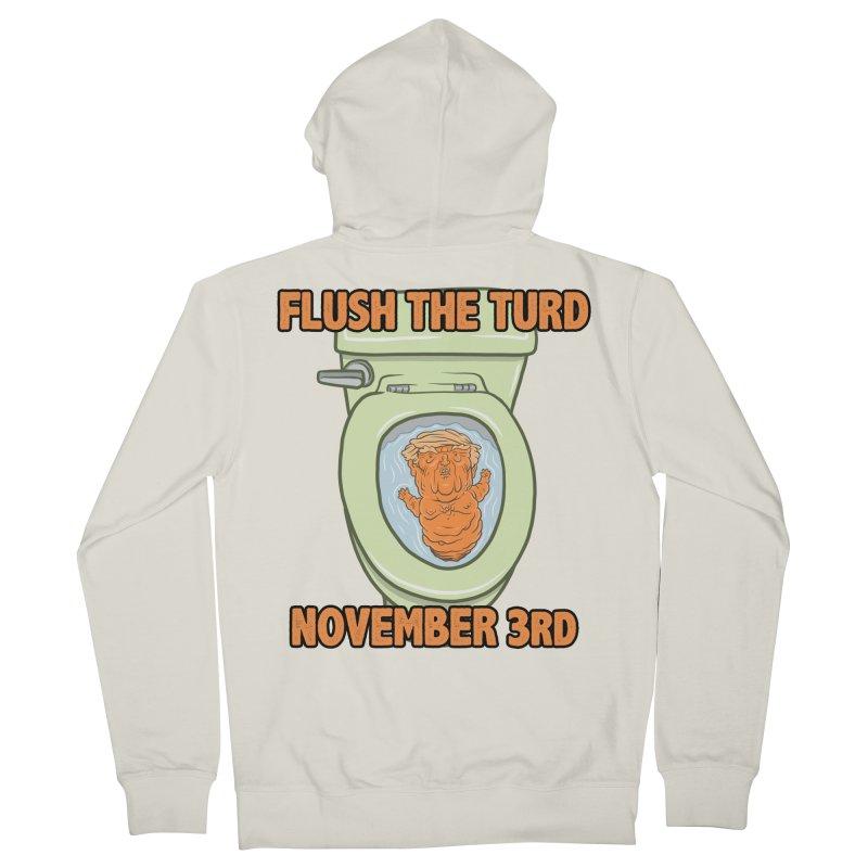 Flush the Turd November Third! Men's French Terry Zip-Up Hoody by Frankenstein's Artist Shop