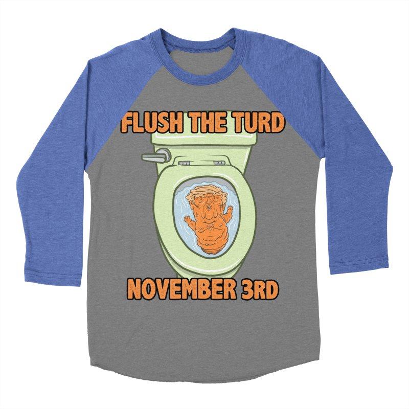Flush the Turd November Third! Men's Baseball Triblend Longsleeve T-Shirt by Frankenstein's Artist Shop