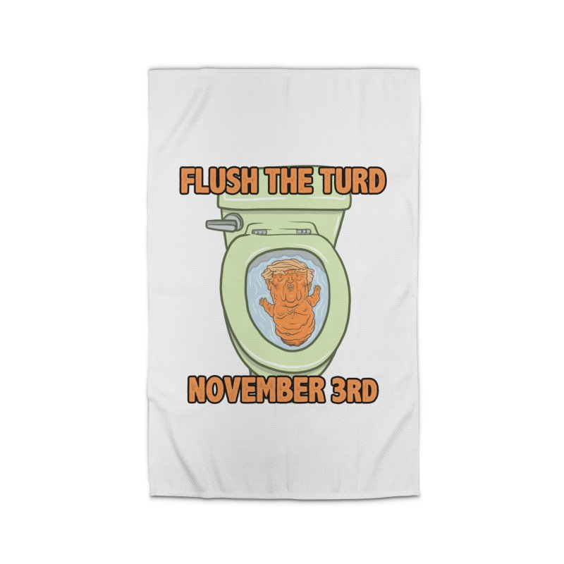 Flush the Turd November Third! Home Rug by Frankenstein's Artist Shop