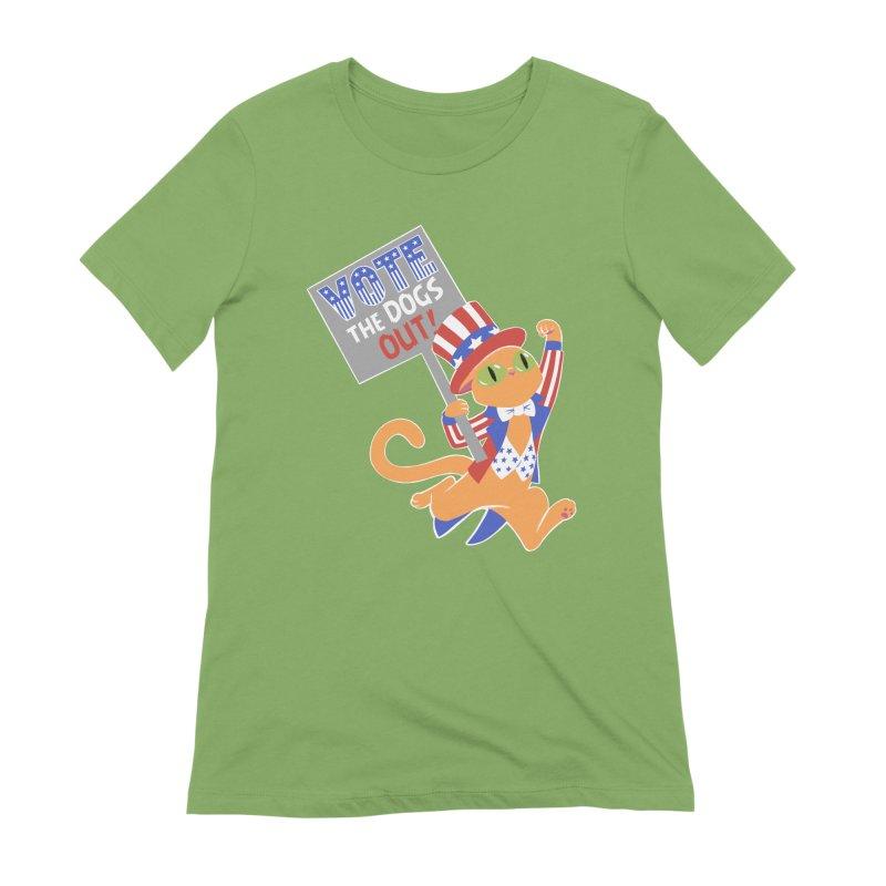 Vote Cat Women's Extra Soft T-Shirt by Frankenstein's Artist Shop