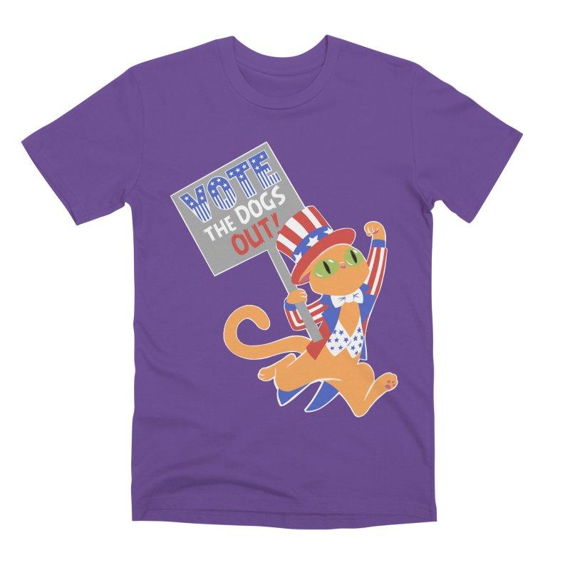 Vote Cat Men's Premium T-Shirt by Frankenstein's Artist Shop