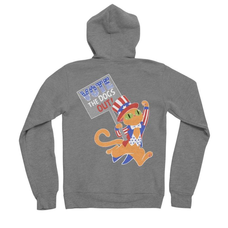 Vote Cat Men's Sponge Fleece Zip-Up Hoody by Frankenstein's Artist Shop