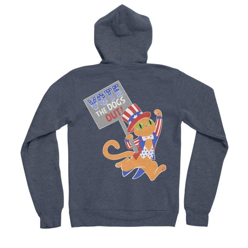 Vote Cat Women's Sponge Fleece Zip-Up Hoody by Frankenstein's Artist Shop