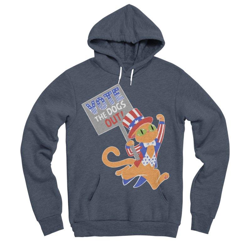 Vote Cat Men's Sponge Fleece Pullover Hoody by Frankenstein's Artist Shop