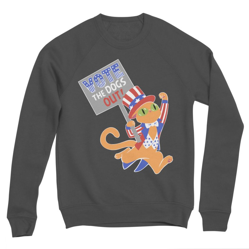 Vote Cat Women's Sponge Fleece Sweatshirt by Frankenstein's Artist Shop
