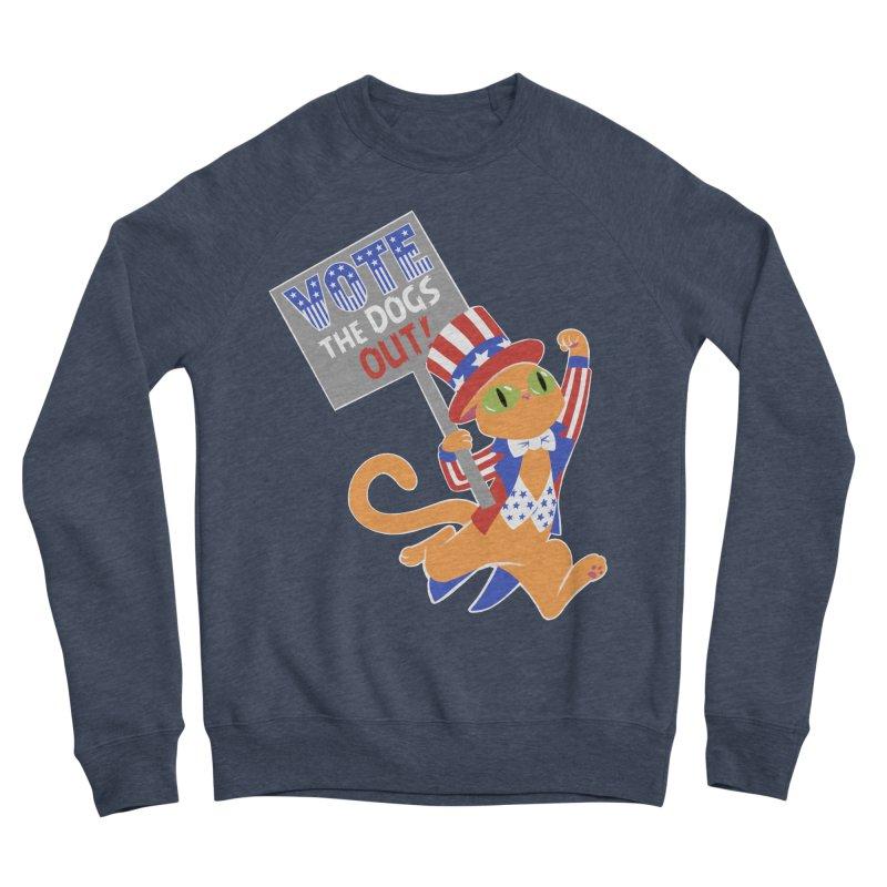 Vote Cat Men's Sponge Fleece Sweatshirt by Frankenstein's Artist Shop