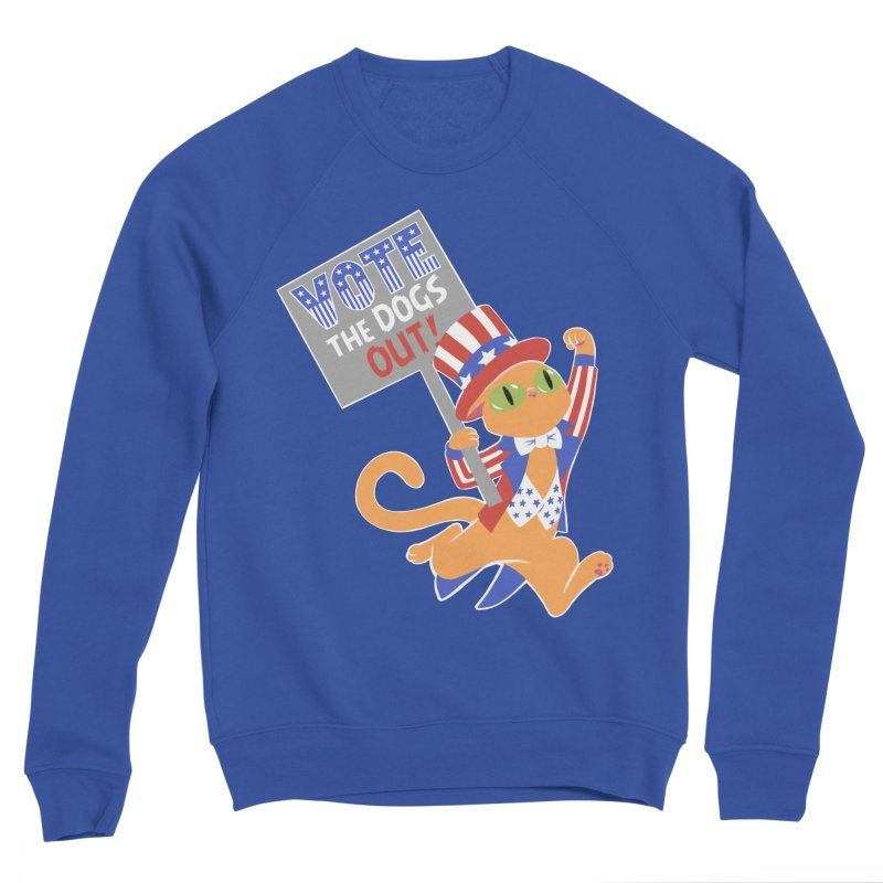 Vote Cat Women's Sponge Fleece Sweatshirt by Frankenstein's Artist Shop
