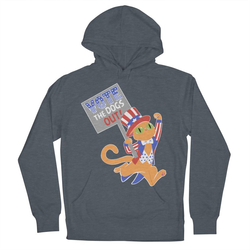 Vote Cat Women's French Terry Pullover Hoody by Frankenstein's Artist Shop