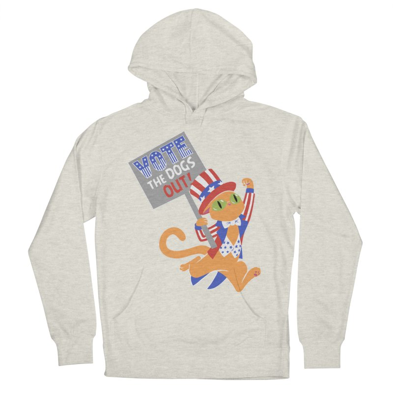 Vote Cat Men's French Terry Pullover Hoody by Frankenstein's Artist Shop