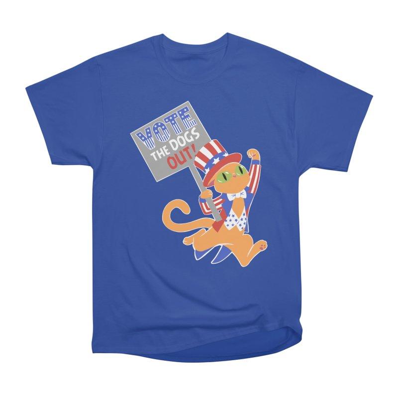 Vote Cat Women's Heavyweight Unisex T-Shirt by Frankenstein's Artist Shop