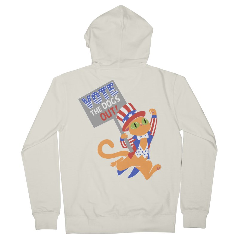 Vote Cat Women's French Terry Zip-Up Hoody by Frankenstein's Artist Shop