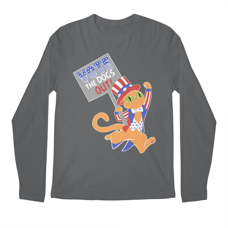 Vote Cat Men's Regular Longsleeve T-Shirt by Frankenstein's Artist Shop