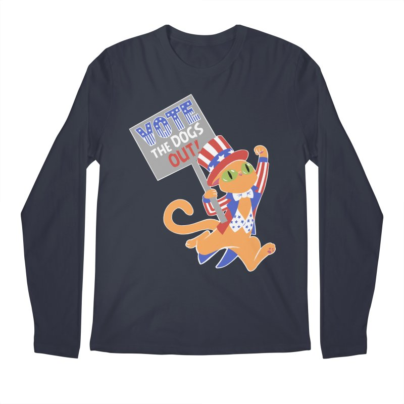 Vote Cat Men's Regular Longsleeve T-Shirt by Frankenstein's Artist Shop