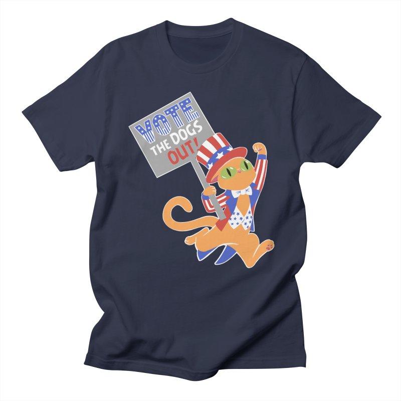 Vote Cat Women's Regular Unisex T-Shirt by Frankenstein's Artist Shop