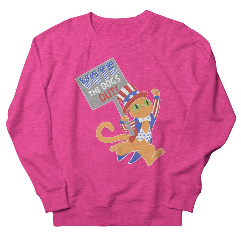 Vote Cat Women's French Terry Sweatshirt by Frankenstein's Artist Shop