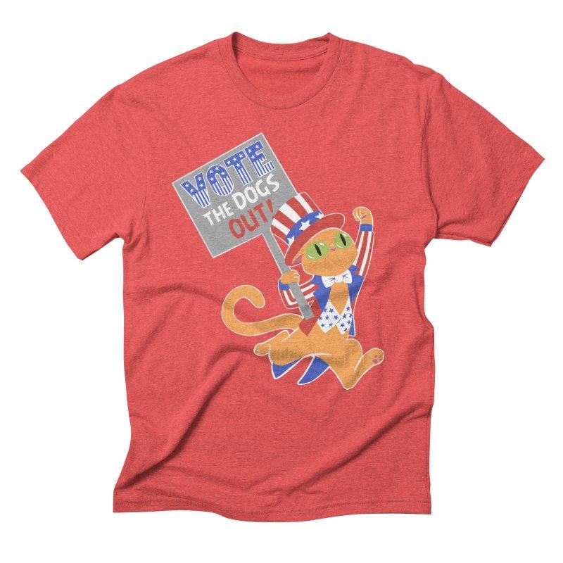 Vote Cat Men's Triblend T-Shirt by Frankenstein's Artist Shop