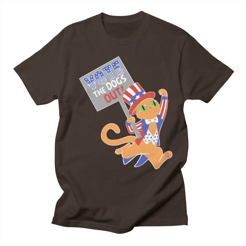 Vote Cat Men's Regular T-Shirt by Frankenstein's Artist Shop