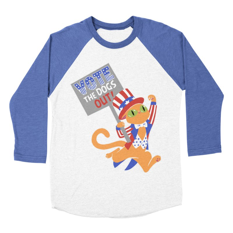 Vote Cat Women's Baseball Triblend Longsleeve T-Shirt by Frankenstein's Artist Shop