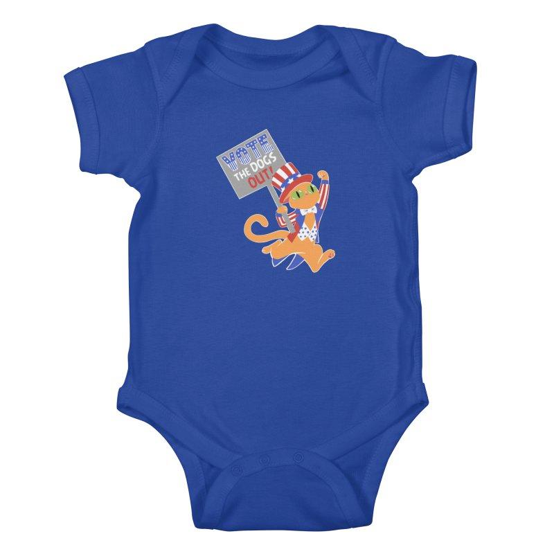 Vote Cat Kids Baby Bodysuit by Frankenstein's Artist Shop