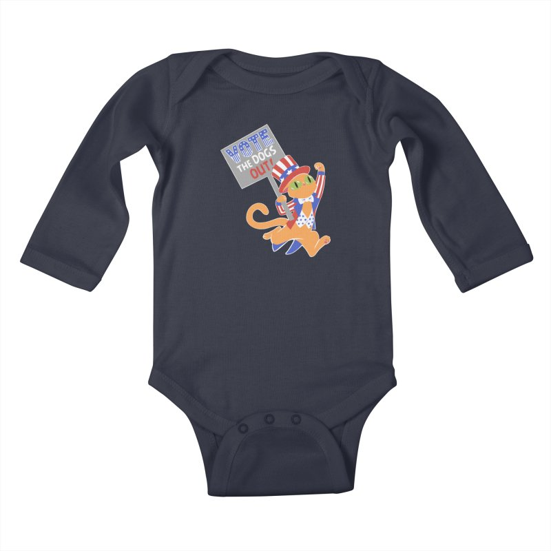 Vote Cat Kids Baby Longsleeve Bodysuit by Frankenstein's Artist Shop