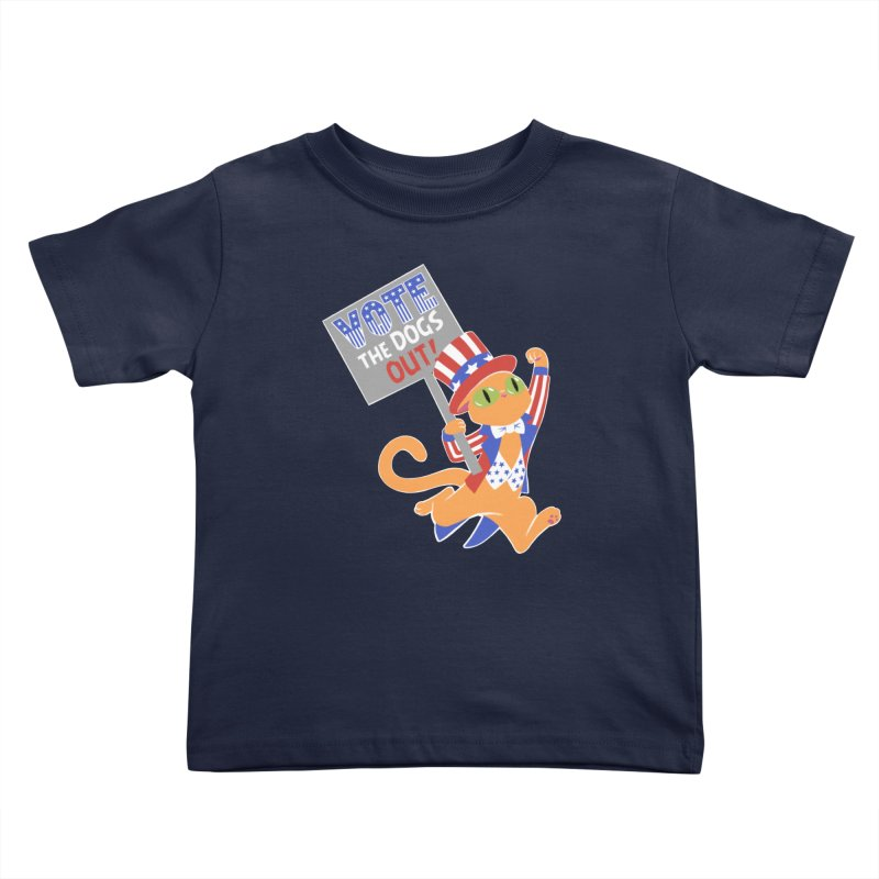 Vote Cat Kids Toddler T-Shirt by Frankenstein's Artist Shop