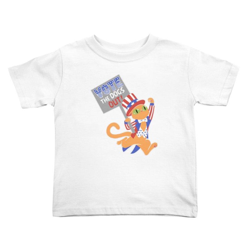 Vote Cat Kids Toddler T-Shirt by Frankenstein's Artist Shop