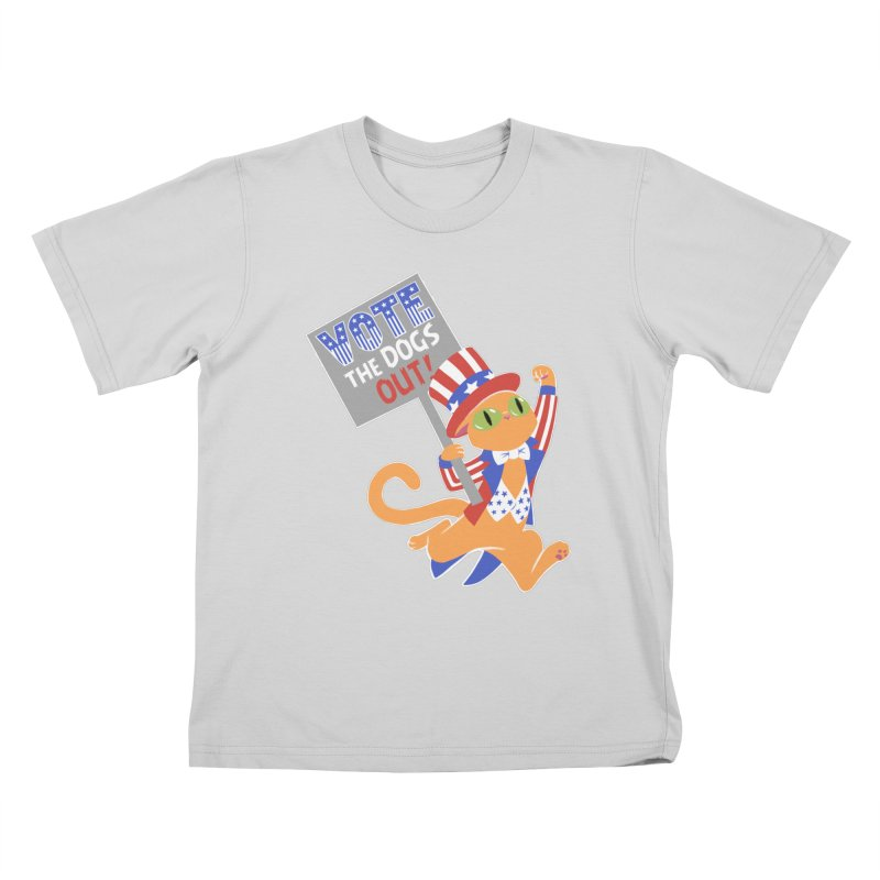 Vote Cat Kids T-Shirt by Frankenstein's Artist Shop