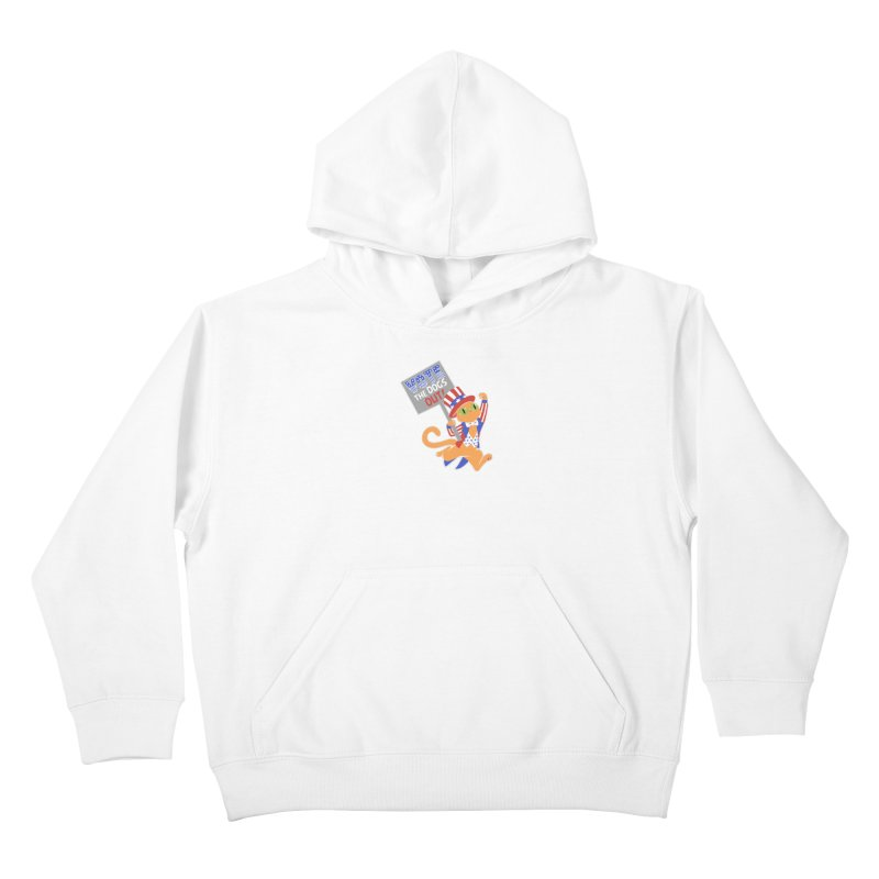 Vote Cat Kids Pullover Hoody by Frankenstein's Artist Shop