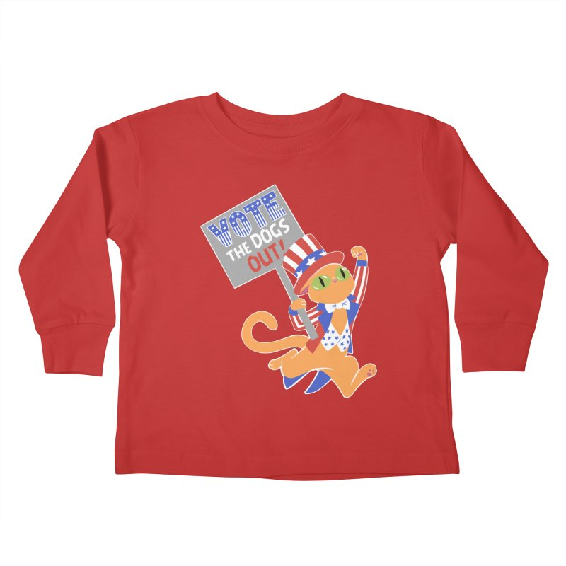Vote Cat Kids Toddler Longsleeve T-Shirt by Frankenstein's Artist Shop