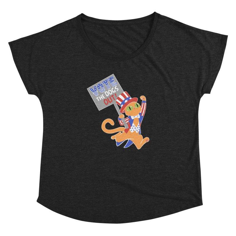 Vote Cat Women's Dolman Scoop Neck by Frankenstein's Artist Shop