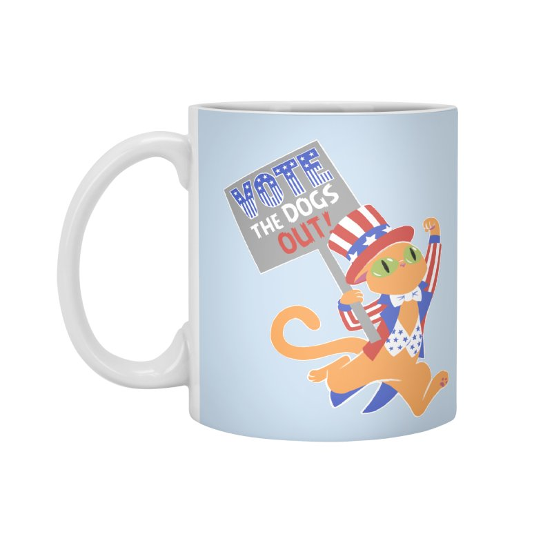 Vote Cat Accessories Standard Mug by Frankenstein's Artist Shop
