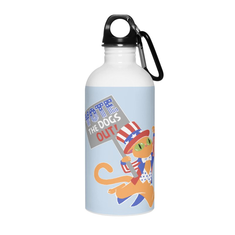 Vote Cat Accessories Water Bottle by Frankenstein's Artist Shop