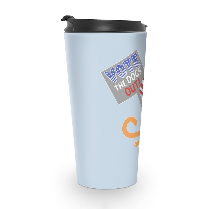 Vote Cat Accessories Travel Mug by Frankenstein's Artist Shop