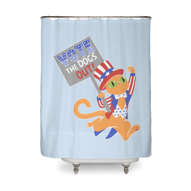 Vote Cat Home Shower Curtain by Frankenstein's Artist Shop