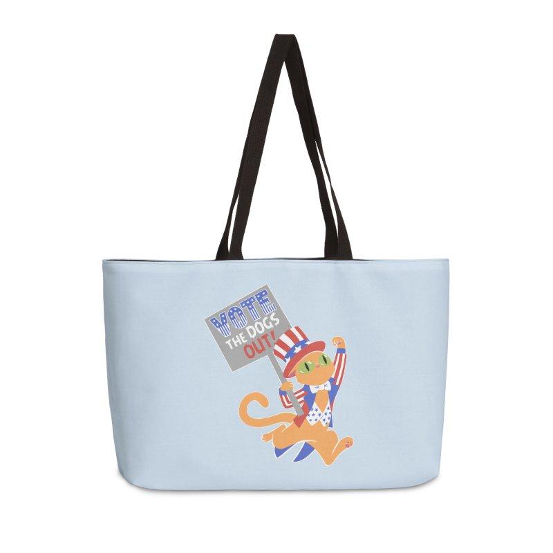 Vote Cat Accessories Weekender Bag Bag by Frankenstein's Artist Shop