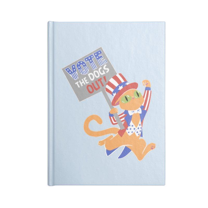 Vote Cat Accessories Lined Journal Notebook by Frankenstein's Artist Shop