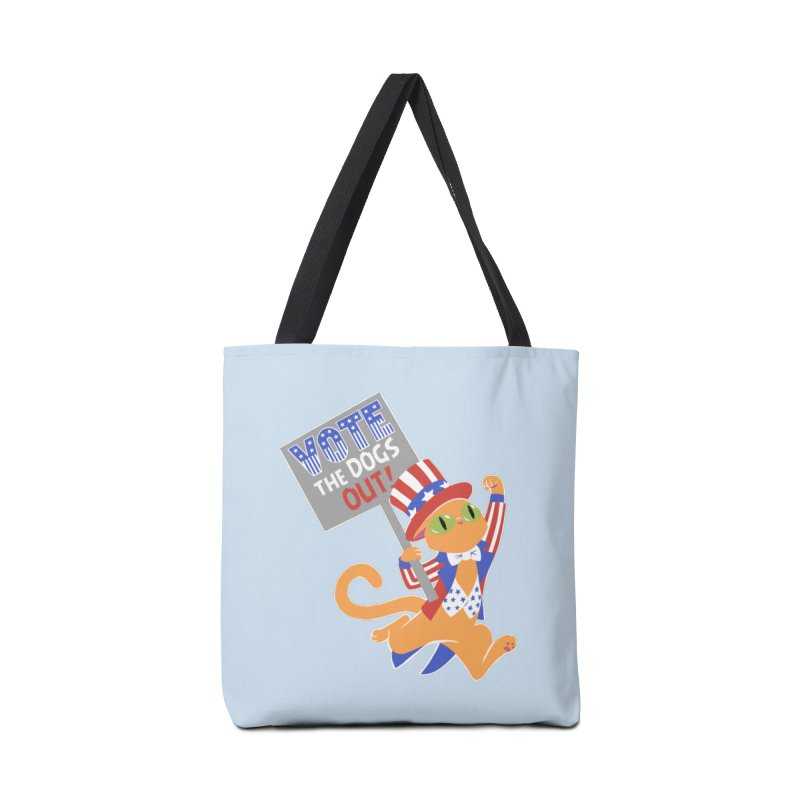 Vote Cat Accessories Tote Bag Bag by Frankenstein's Artist Shop