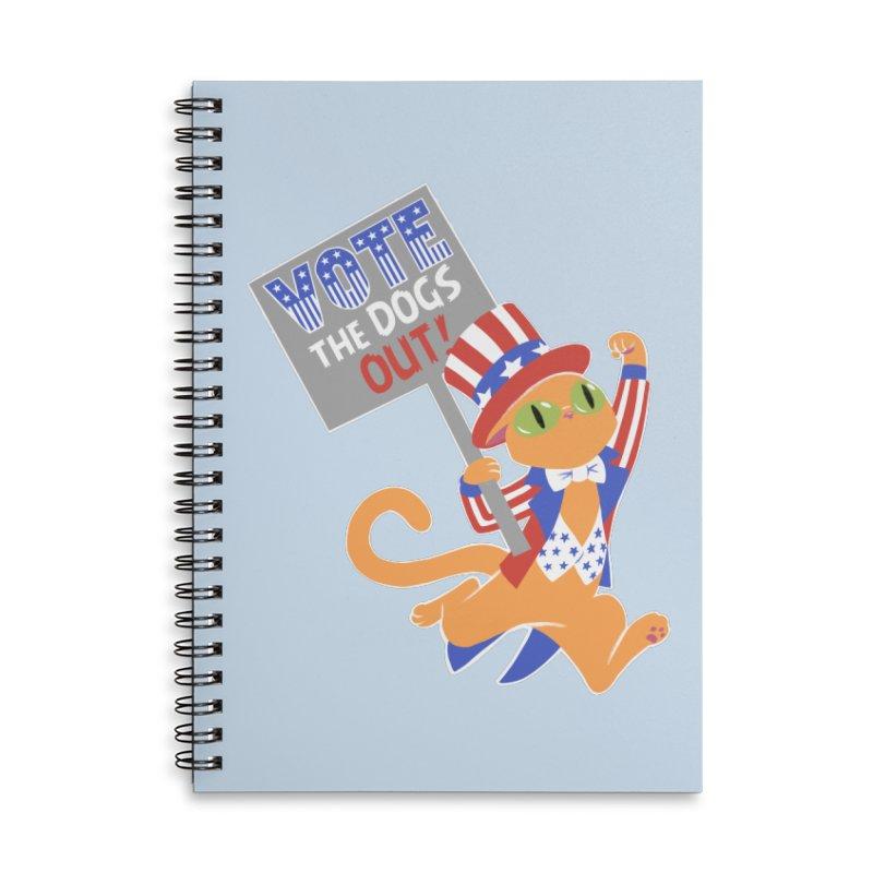 Vote Cat Accessories Lined Spiral Notebook by Frankenstein's Artist Shop