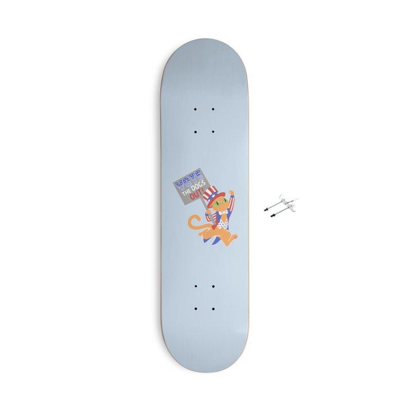 Vote Cat Accessories With Hanging Hardware Skateboard by Frankenstein's Artist Shop