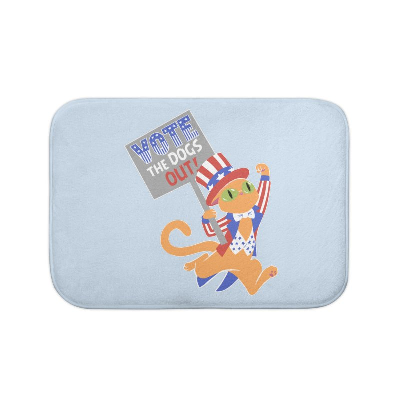 Vote Cat Home Bath Mat by Frankenstein's Artist Shop