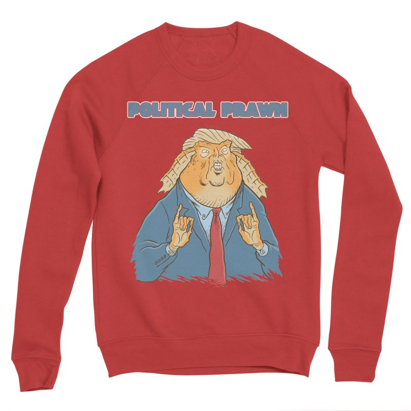 Political Prawn (Jar Jar Trump) Women's Sponge Fleece Sweatshirt by Frankenstein's Artist Shop