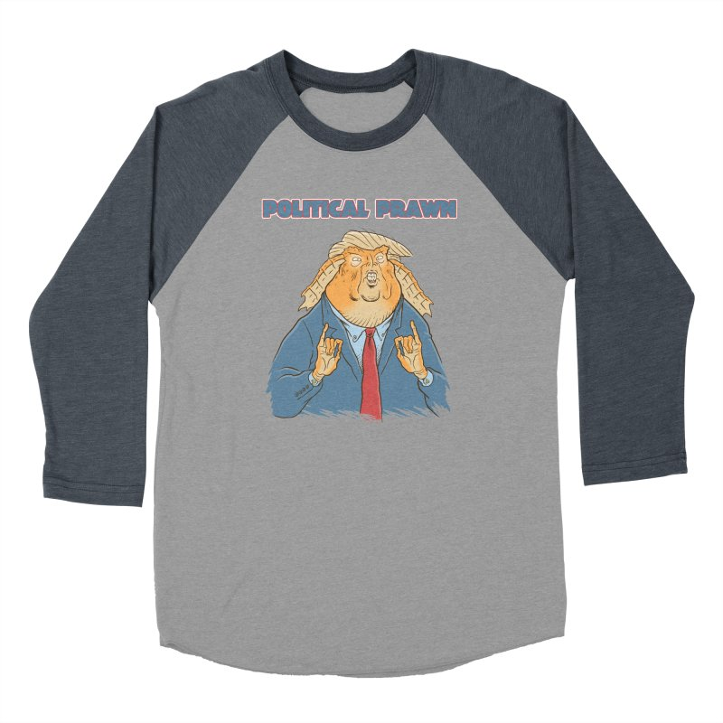 Political Prawn (Jar Jar Trump) Women's Baseball Triblend Longsleeve T-Shirt by Frankenstein's Artist Shop