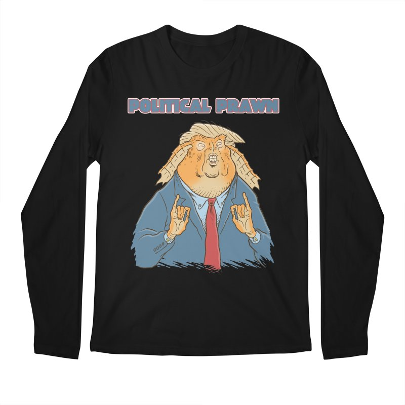 Political Prawn (Jar Jar Trump) Men's Regular Longsleeve T-Shirt by Frankenstein's Artist Shop