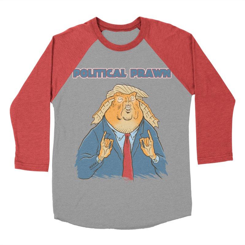 Political Prawn (Jar Jar Trump) Men's Baseball Triblend Longsleeve T-Shirt by Frankenstein's Artist Shop