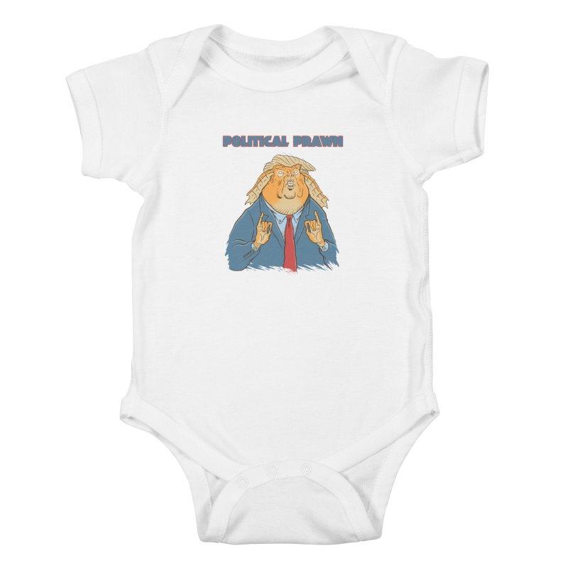 Political Prawn (Jar Jar Trump) Kids Baby Bodysuit by Frankenstein's Artist Shop