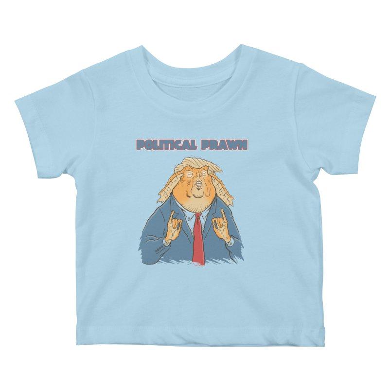 Political Prawn (Jar Jar Trump) Kids Baby T-Shirt by Frankenstein's Artist Shop